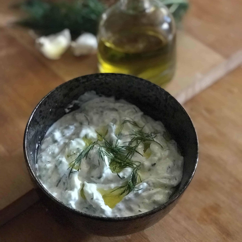 Greek tsatziki sauce