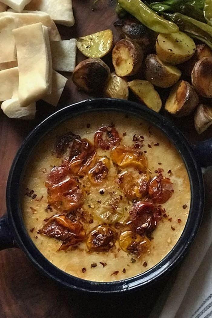 greek cheese fondue-dip