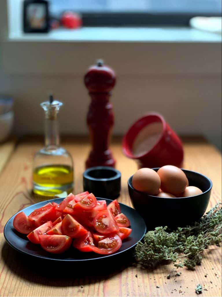 Greek Eggs kayanas or strapatsada