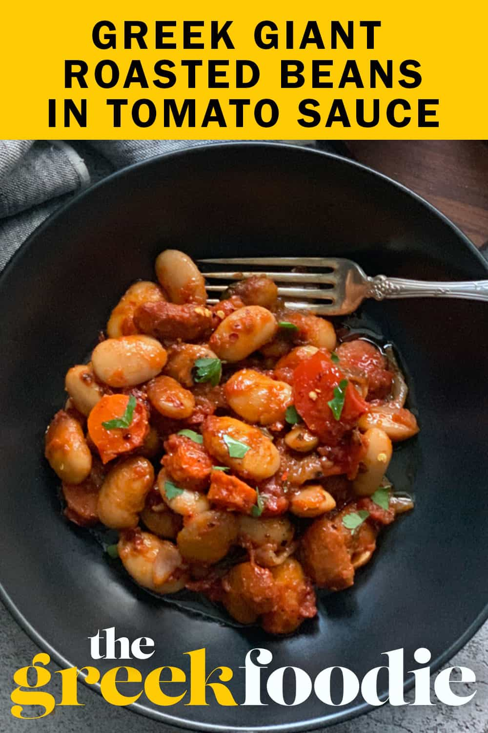 Greek Roasted Beans In Tomato Sauce