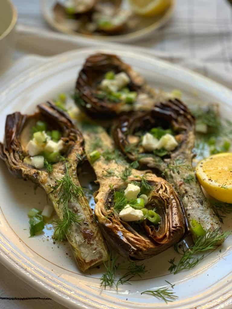 ARTICHOKES WITH LEMON AND DILL