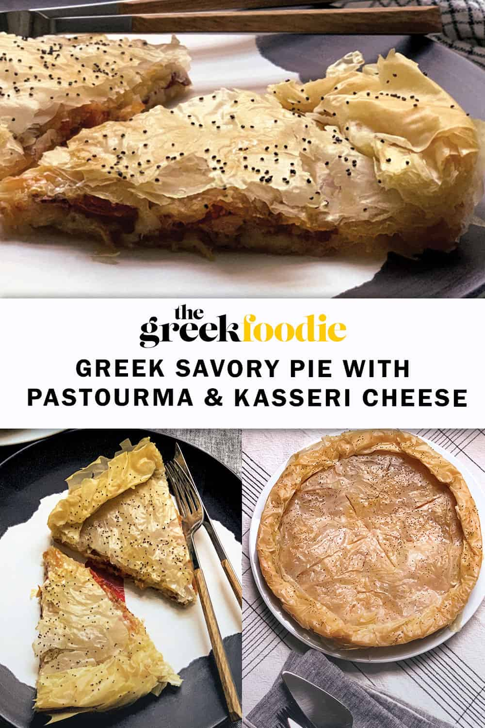 Greek Pie With Pastourma & Kasseri