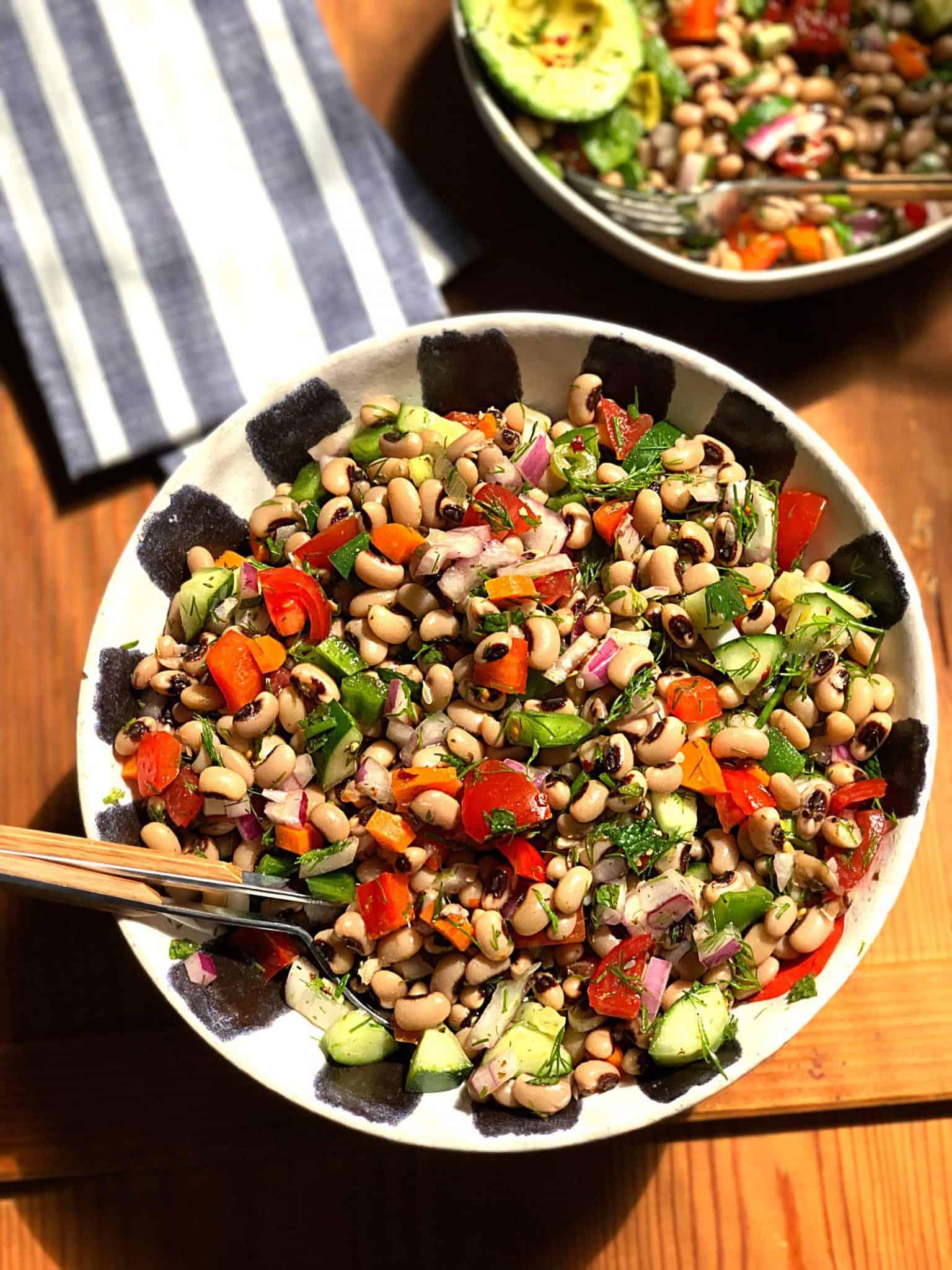 blackeyed peas salad  the greek foodie