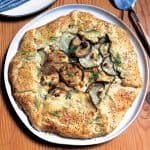 A zucchini and potatoes galette wrapped in a flaky, buttery crust
