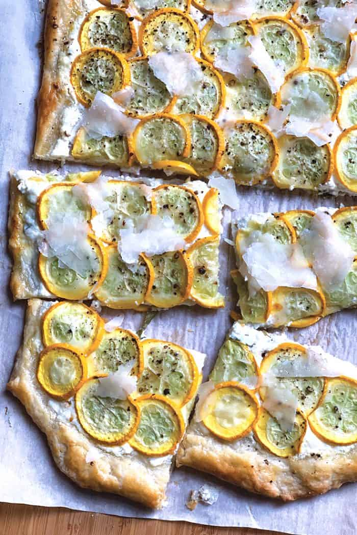 easy breezy yellow squash tart