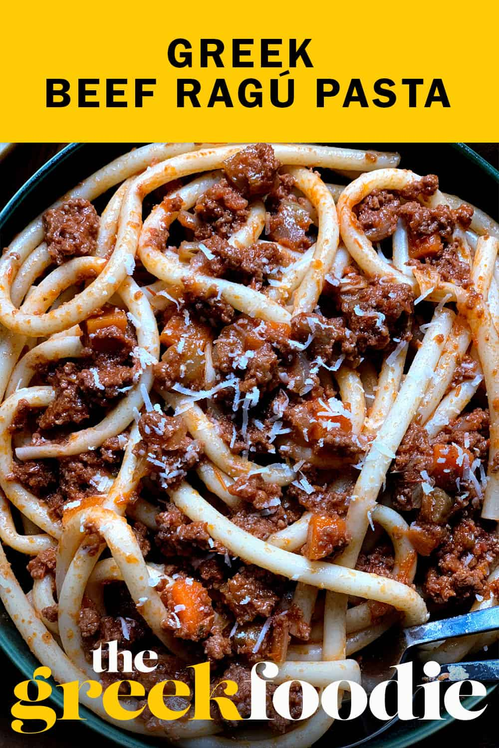 Greek Beef Ragú Pasta