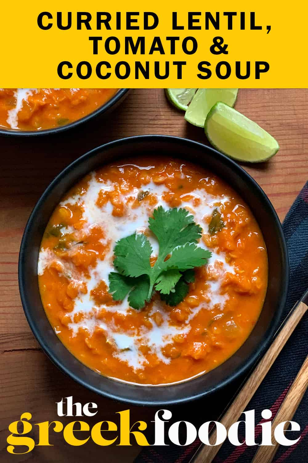 This lovely red lentil soup is creamy, has a great curry flavor and only takes  40 minutes to come together, you can even enjoy it on a weeknight.