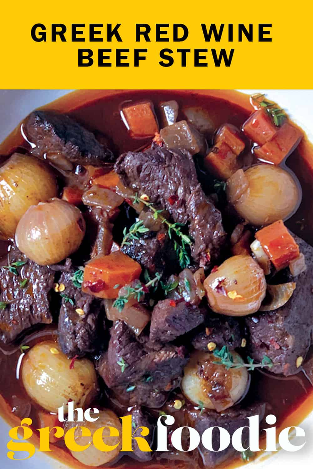 Greek Red Wine Beef Stew