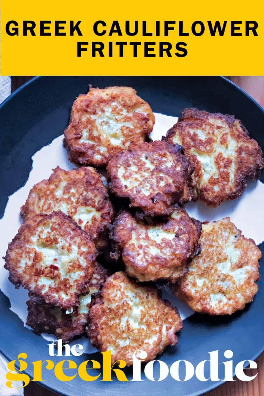 Greek Cauliflower Fritters