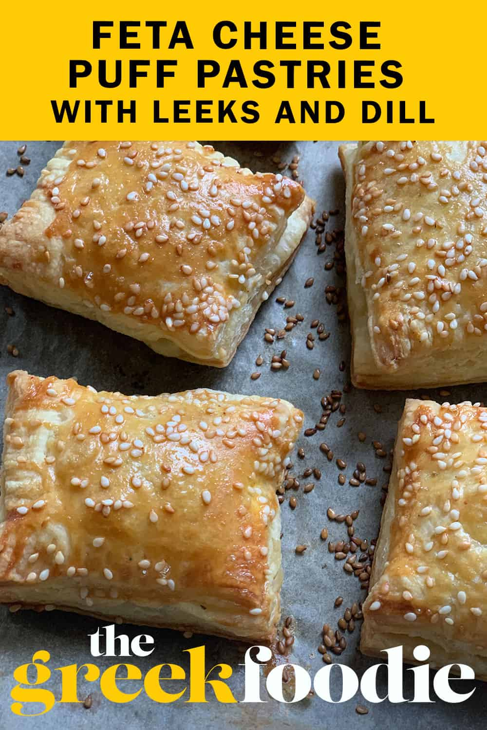 Feta Cheese Puff Pastries With Leeks And Dill