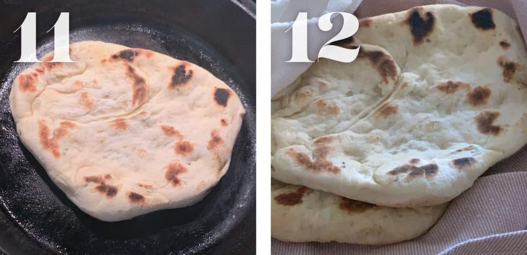 Cooked Greek flatbreads-pita.