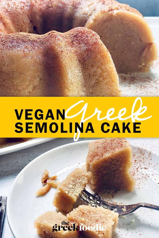 Vegan Semolina Halva Cake