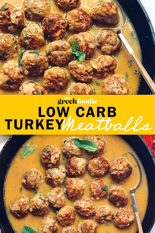 Low Carb Turkey Meatballs & Gravy
