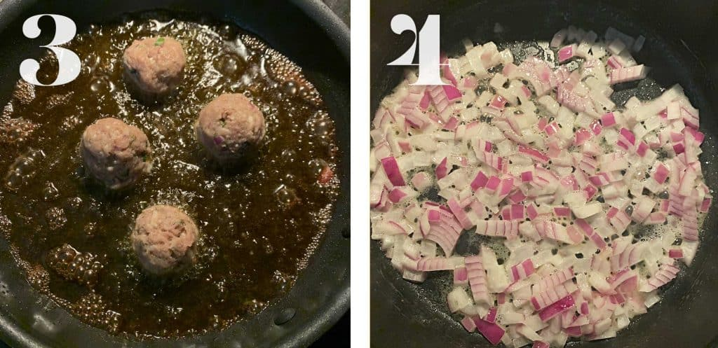 How to shots for low carb turkey meatballs.