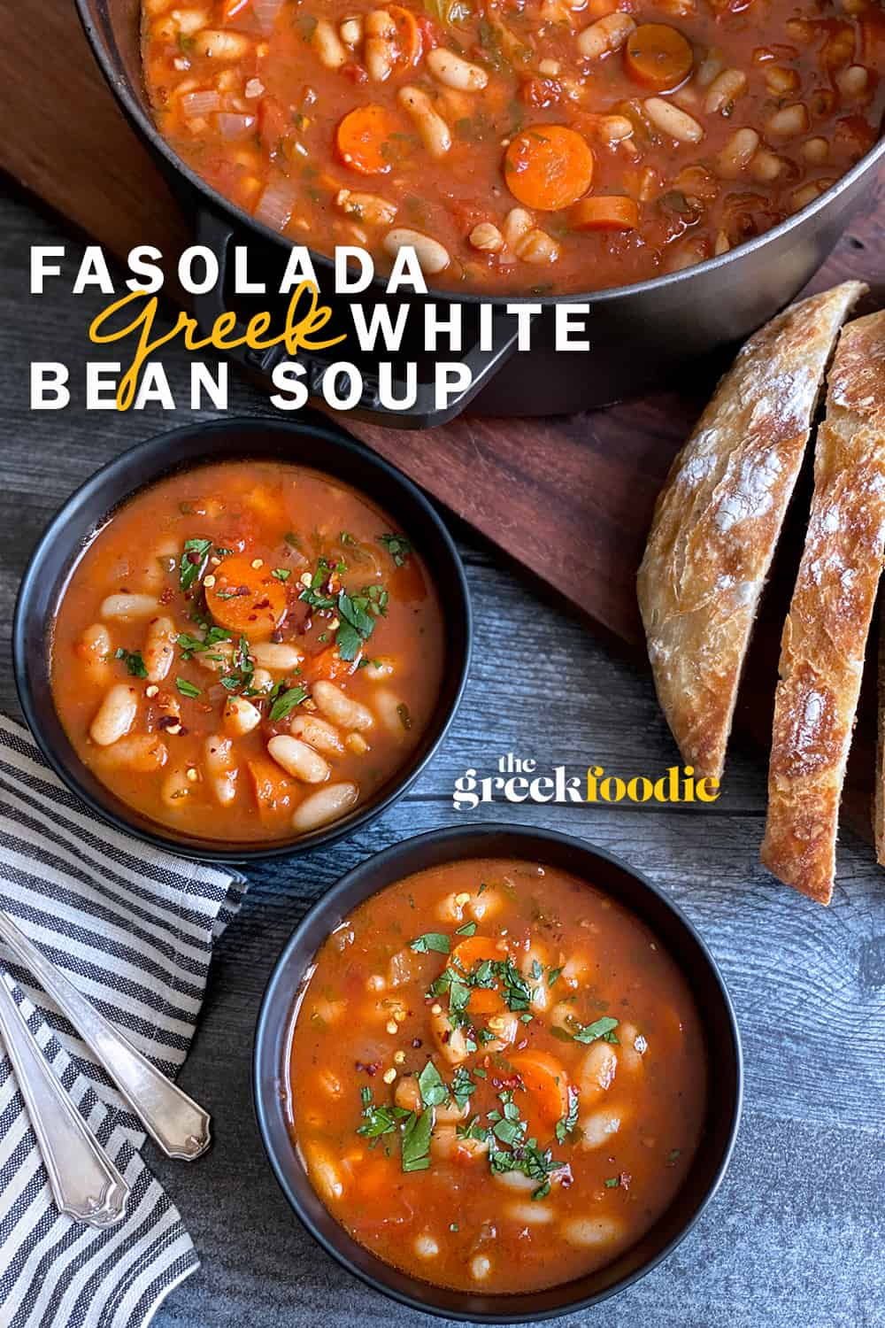Fasolada - Greek White Bean Soup