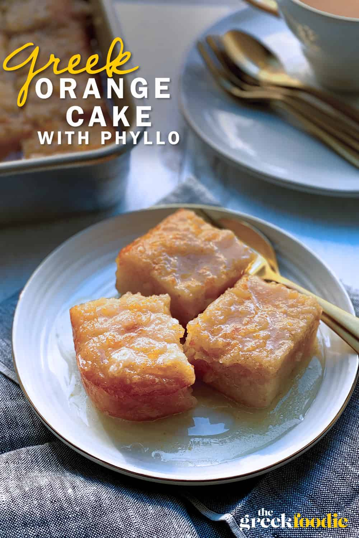 Portokalopita - Greek Orange Phyllo Cake