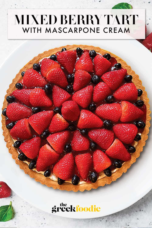 Berry Tart With Mascarpone Cream