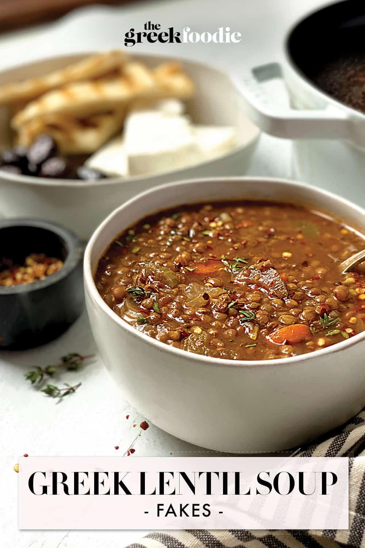 Greek Lentil Soup - Fakes