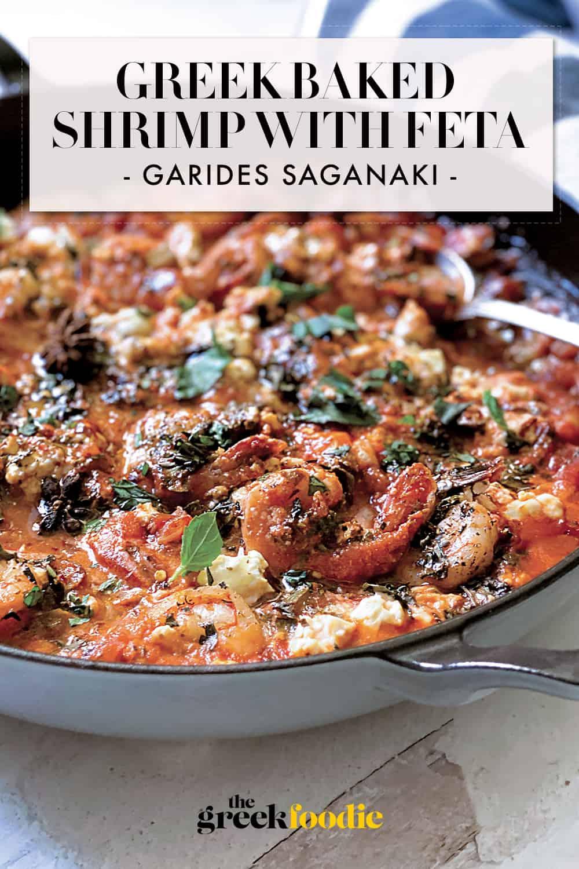 Greek Shrimp Saganaki - Baked Shrimp with Feta