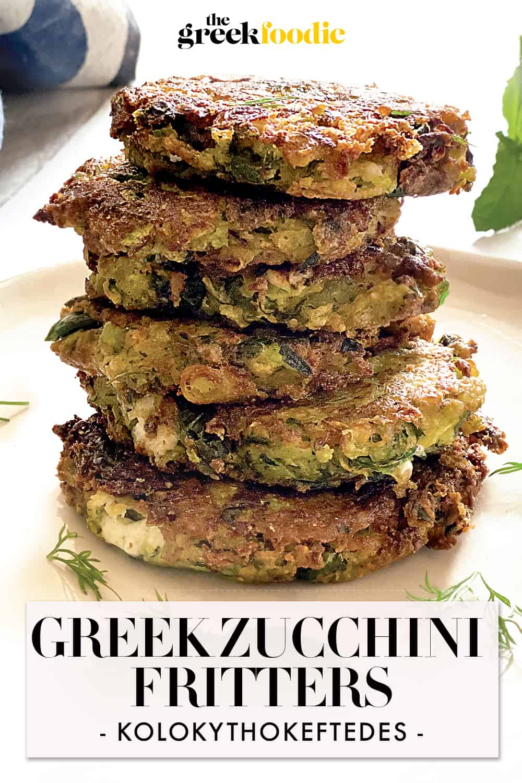 Greek Zucchini Fritters With Feta