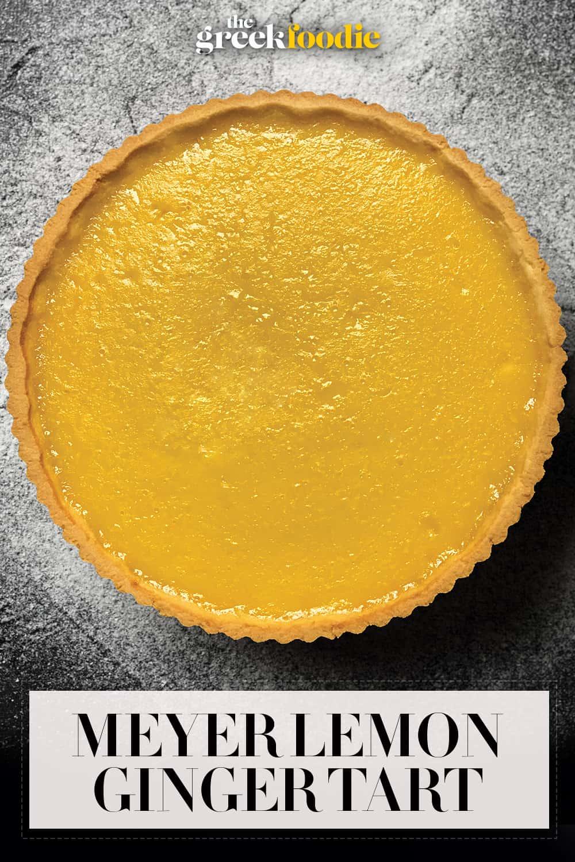 Meyer Lemon Ginger Tart