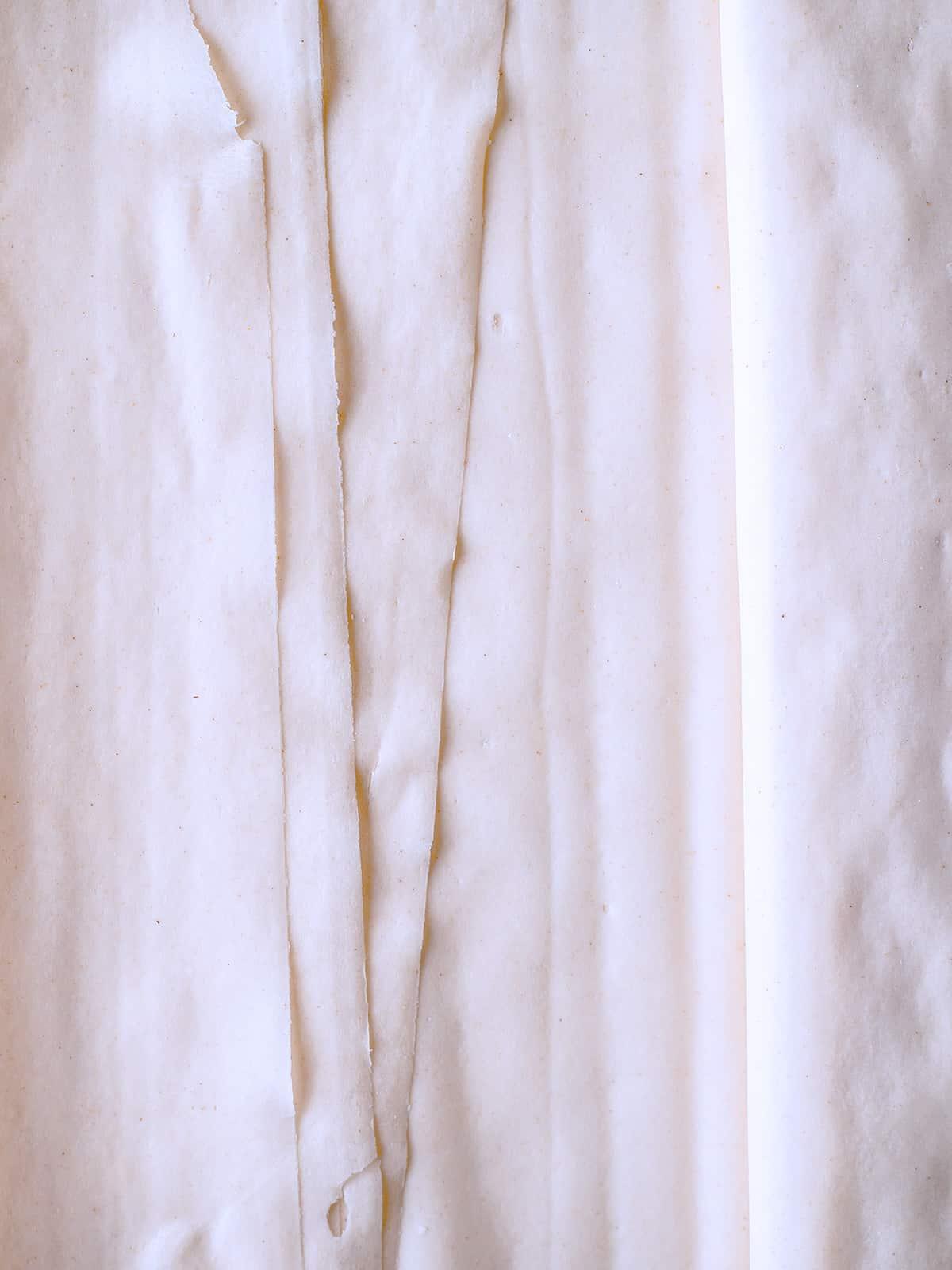 Phyllo sheets.