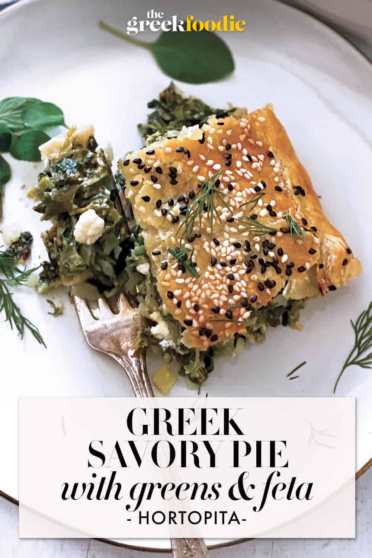 Greek Savory Pie with Greens and Feta - Hortopita