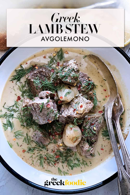 Greek Lamb Stew Avgolemono