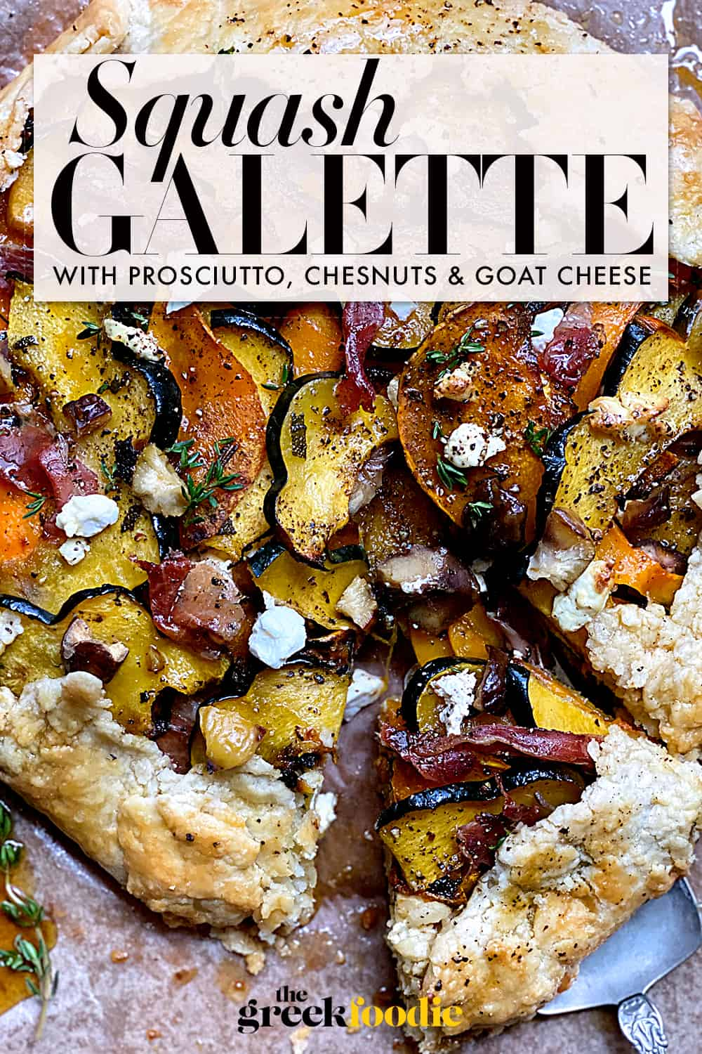 Squash Galette With Goat Cheese & Prosciutto